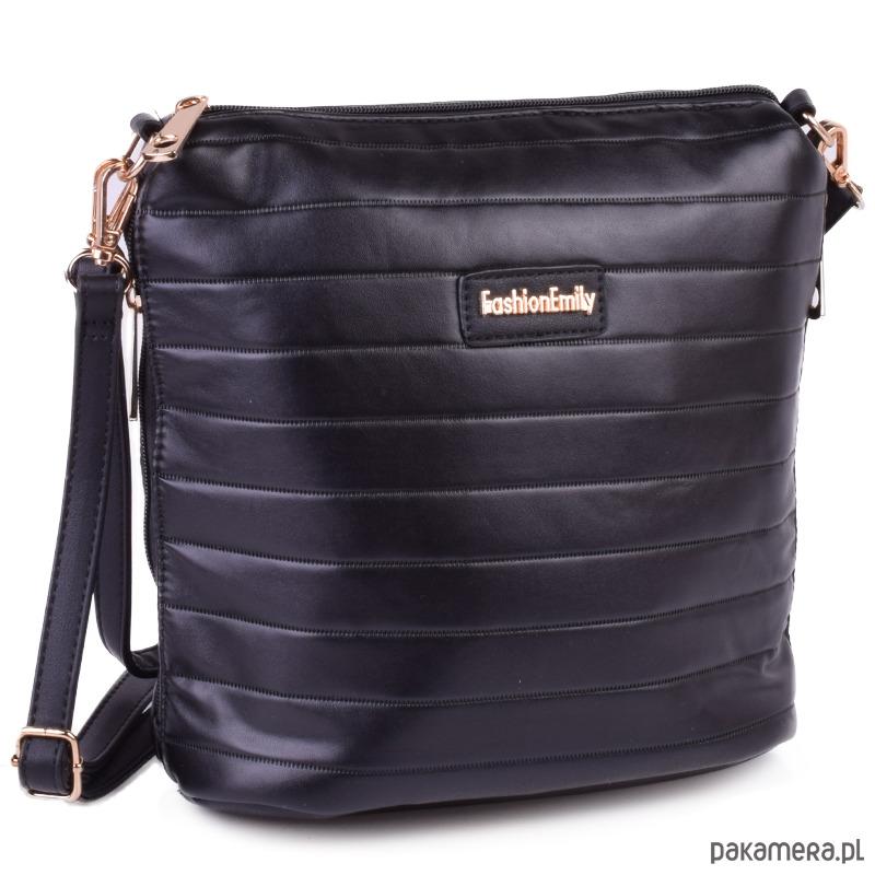 d2281836a4ba4 Listonoszka pikowana SUMMER czarny - torby na ramię - damskie ...