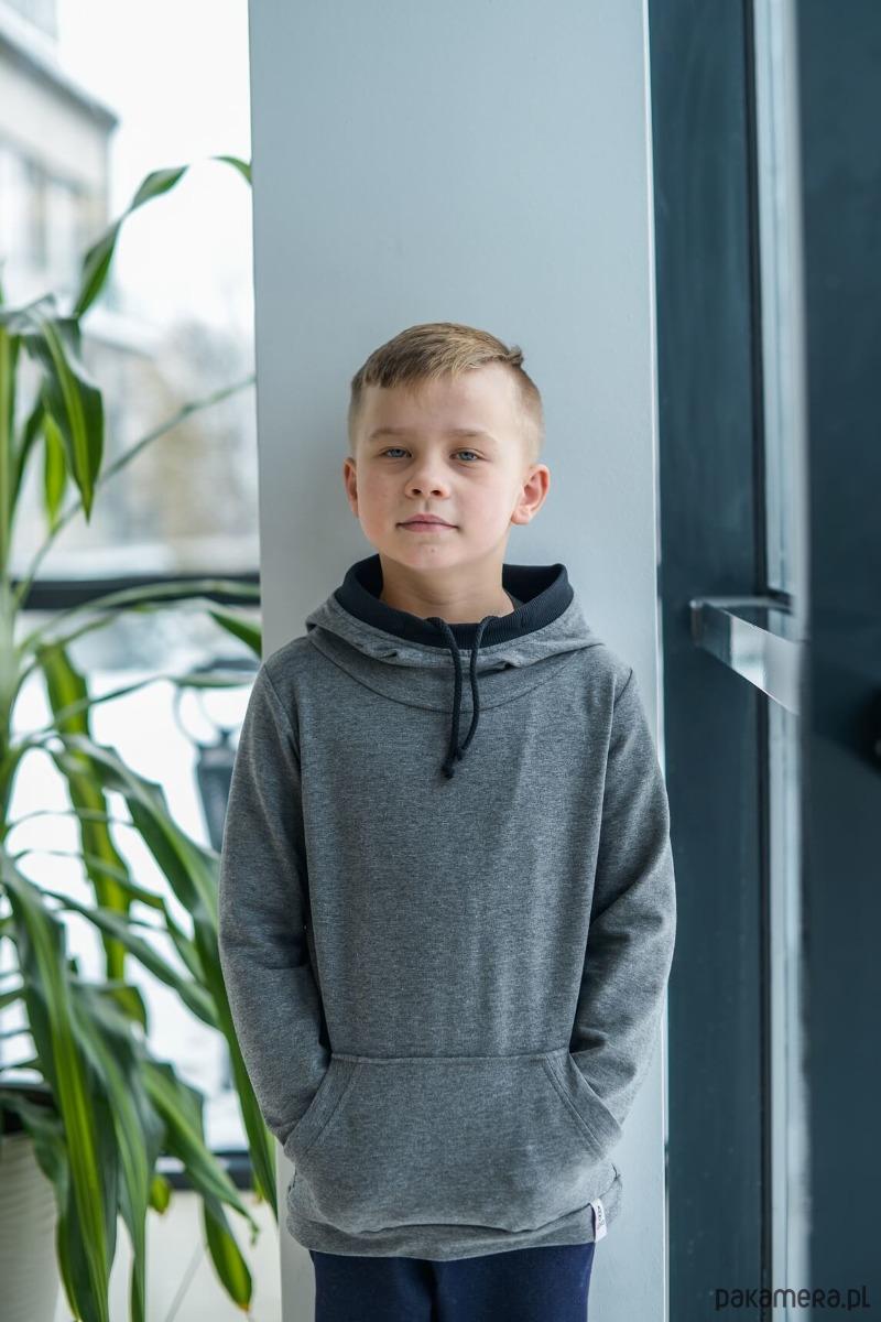 5a0b877b3105cb Bluza sportowa szara - chłopiec - bluzy - chłopiec - Pakamera.pl