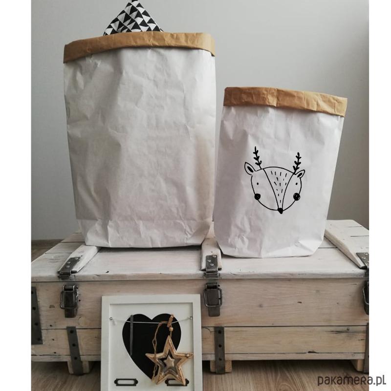 ae05fd62bfa39d przechowywanie - worki papierowe-papierowa torba, worek na zabawki jelonek  ...