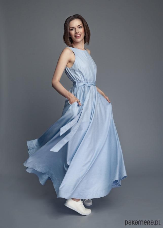 8a5e693462 Rozmiar S - Długa letnia sukienka maxi - sukienki - maxi - Pakamera.pl