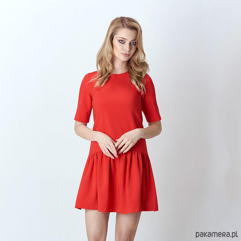 Sukienka FLOUNCE czerwona