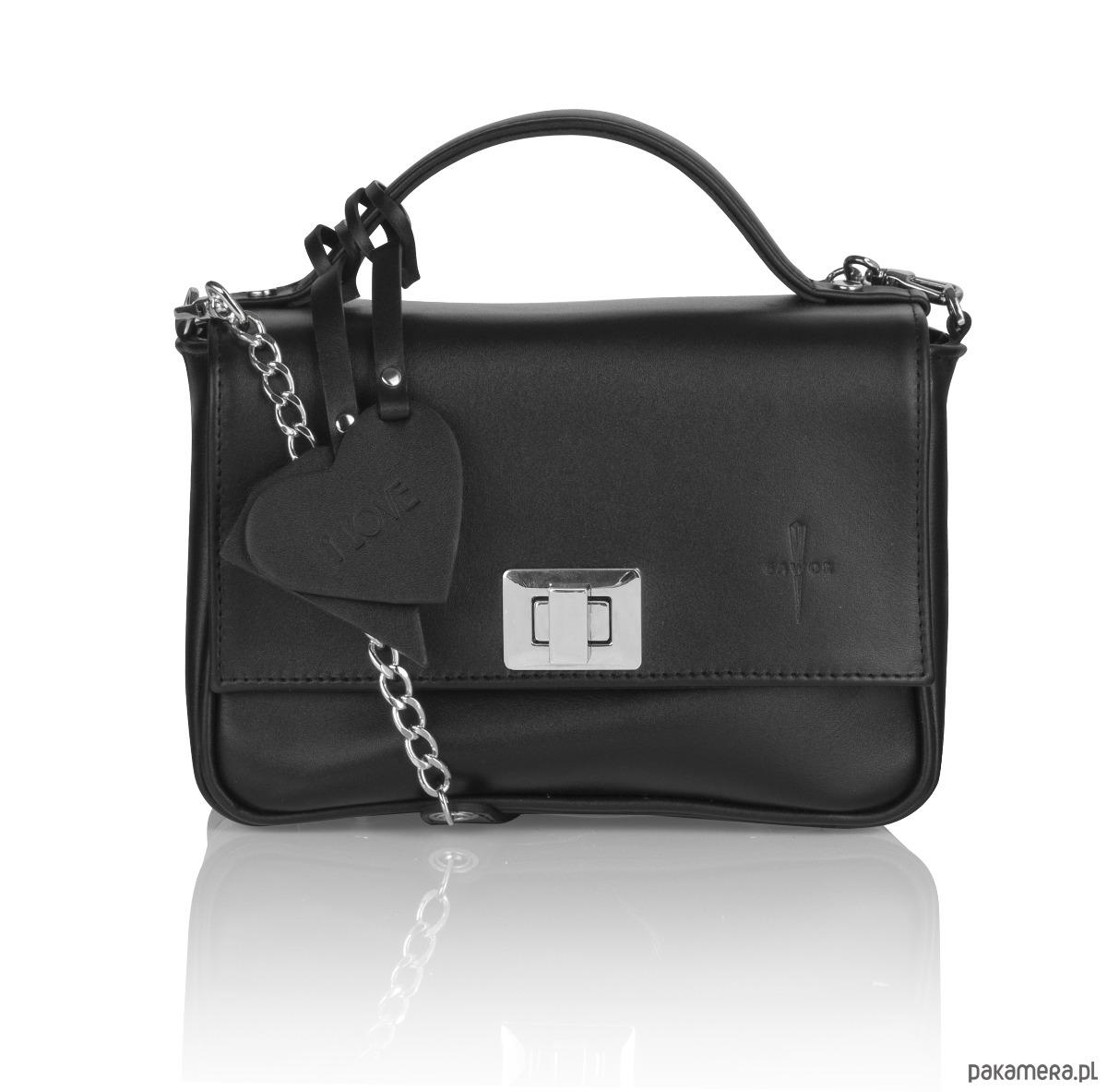 8331f10ff3e52 Skórzana torebka kuferek czarny Piccolina G-98 - torebki mini ...