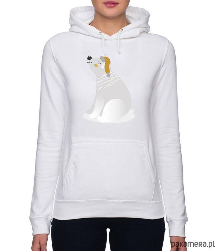 Bluza damska z zimowym misiem polarnym