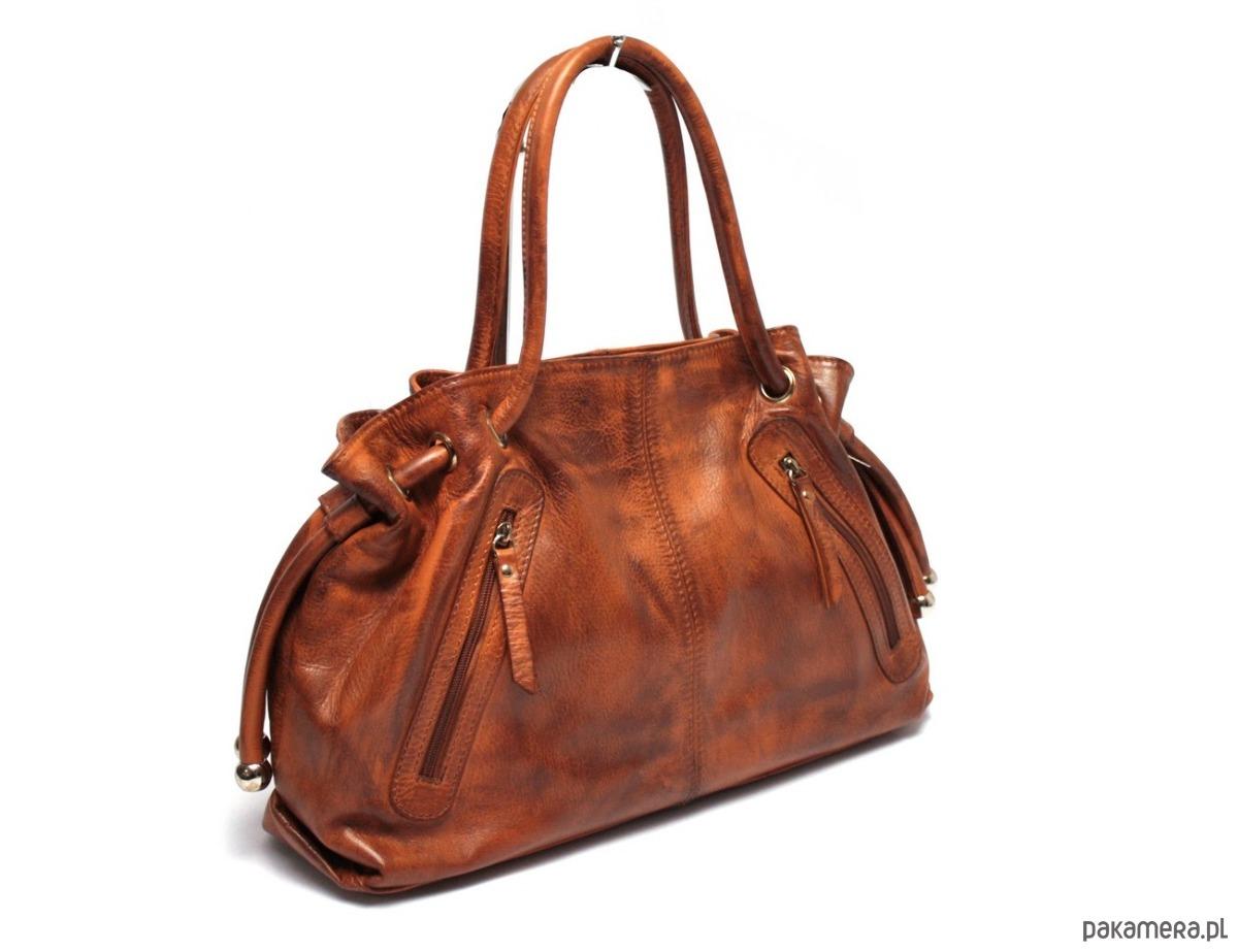 58f7680e87f70 torby na ramię - damskie-Torebka skórzana WuKaDor Vintage 2025 ruda