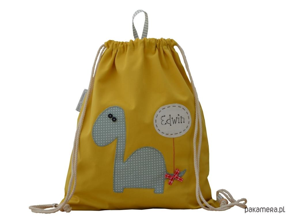 4453a6cfbb278 akcesoria - torebki, worki i plecaki-plecak do przedszkola szkoły z  dinozaurem imię