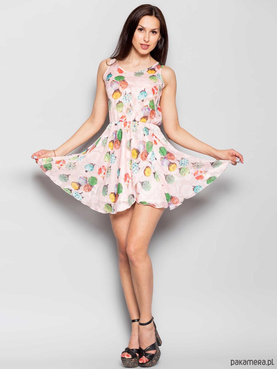 DELIKATNA sukienka RÓŻOWY