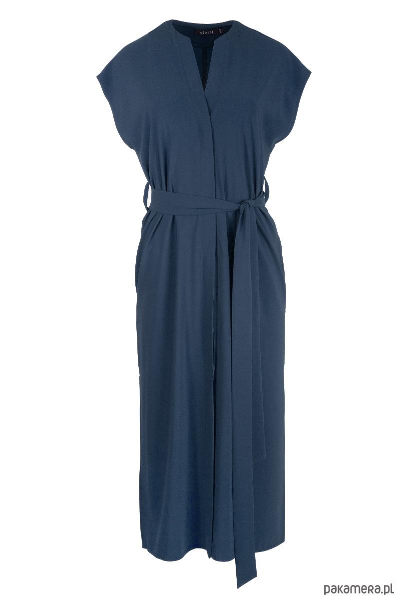 Sukienka LISA granatowa długa