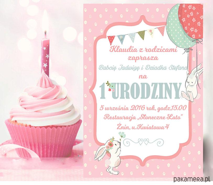 Zaproszenie Na Urodziny Kolorowe Balony Dziecko Kinderbal