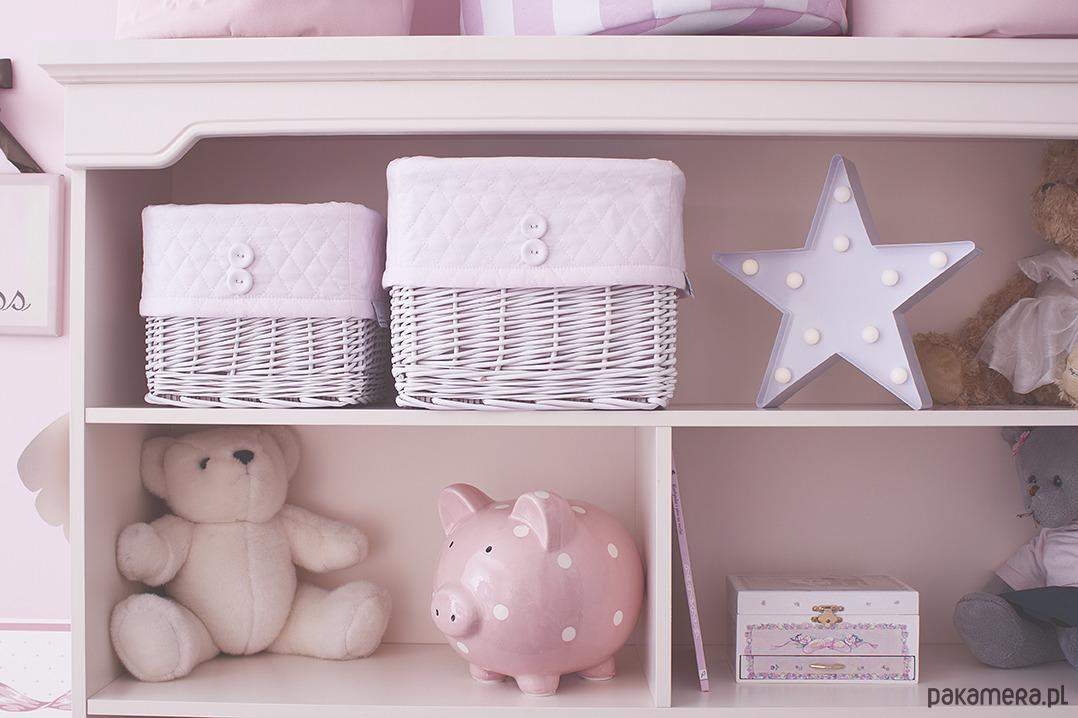d9c34bb5a9e9ea pokój dziecka - pojemniki na zabawki-Koszyk wiklinowy pudrowy róż pikowany  duży ...