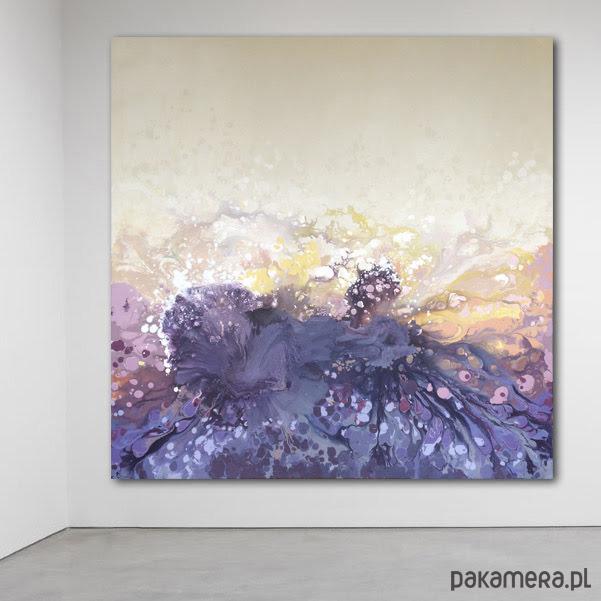 Płótno 120x120cm Obraz Farbami Akrylowymi Malarstwo Pakamerapl