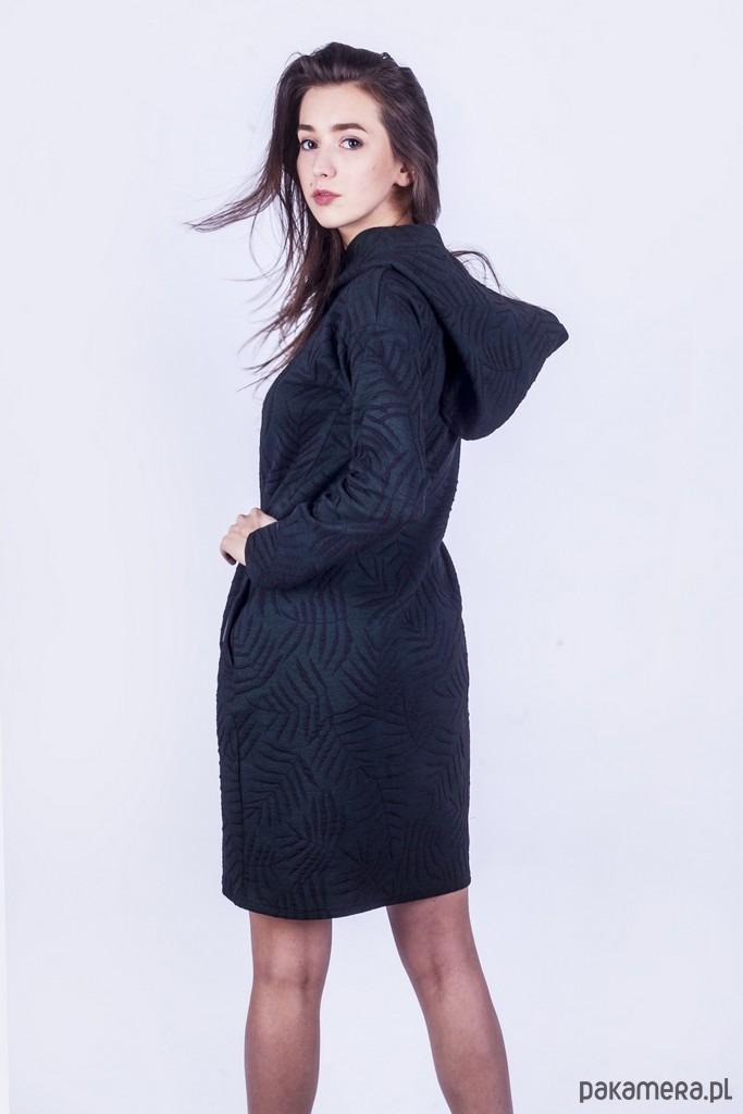 Sukienka z kapturem LIŚCIE