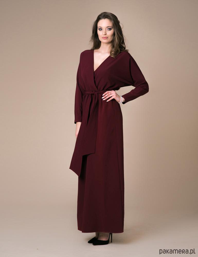 Kimono Maxi Bordo