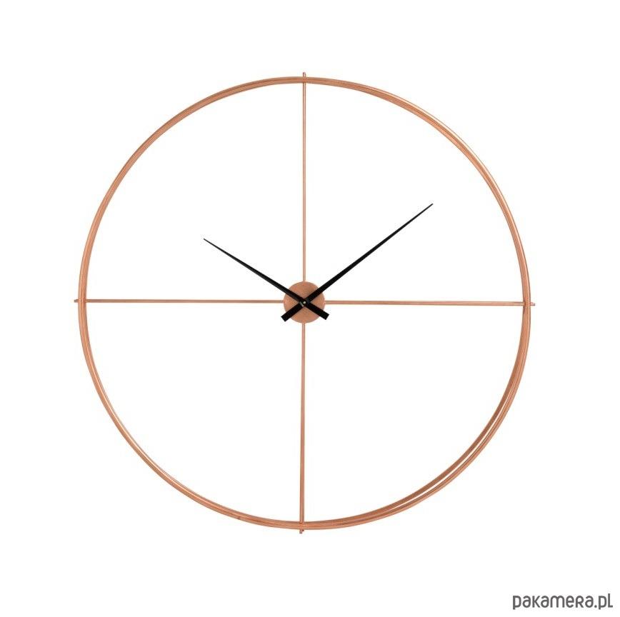 Zegar ścienny Round Metal Miedziany 126 Cm Pakamerapl