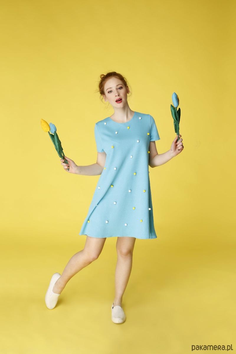Sukienka trapezowa Lilie wodne