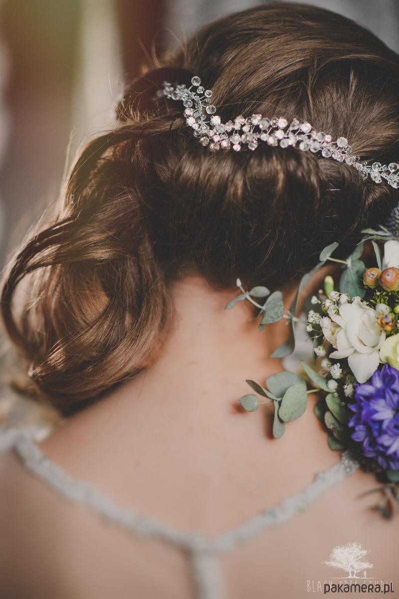Glamour Rose Quartz ślubny Stroik Do Włosów ślub Ozdoby Na