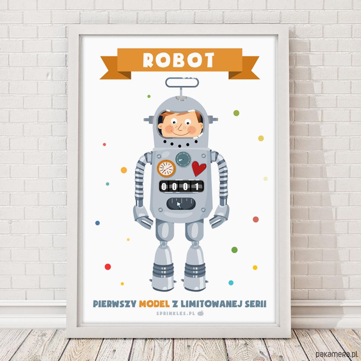 Plakat Robot Ii Duży 50x70 Cm Pakamerapl