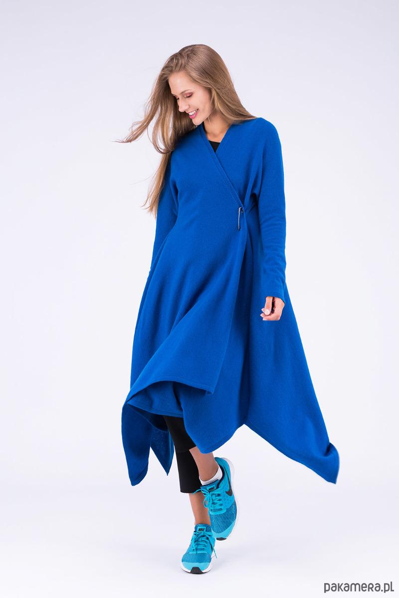 01bc22f71ea9 Sukienka ILUISSAT Niebieska - sukienki - midi - Pakamera.pl