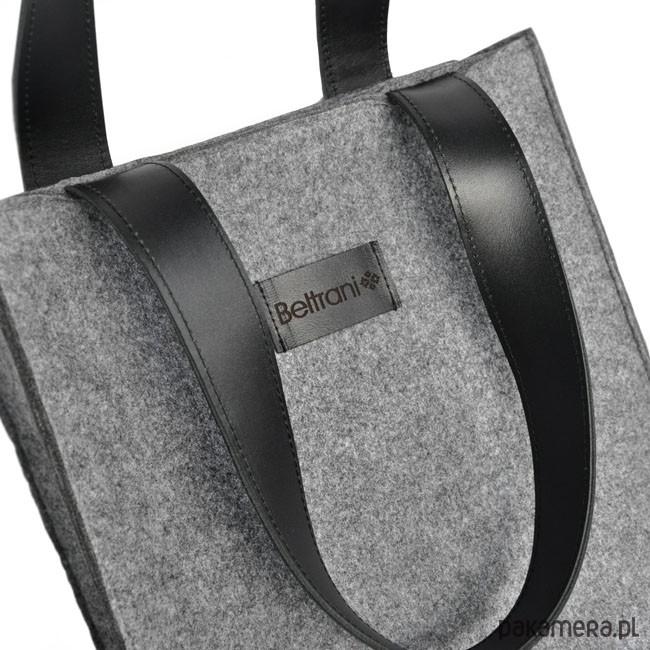 bbe6d5366b167 Top Glam - Klasyczna torebka z filcu - szara - torby na ramię - unisex -  Pakamera.pl