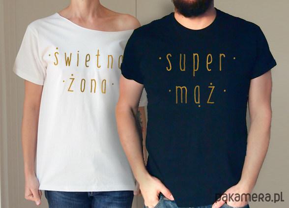 S-XXL Świetna żona Super mąż koszulki dla pary