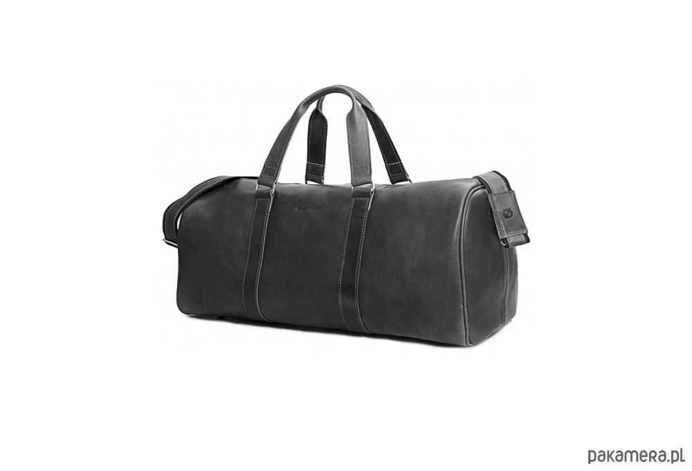 f99bea33887e9 akcesoria - torby i nerki - męskie-Skórzana czarna torba męska podróżna