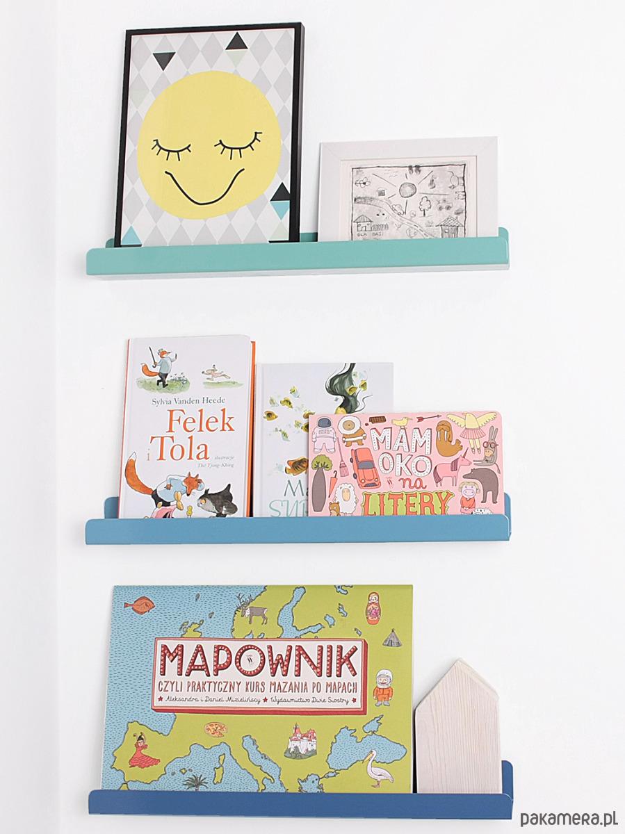 Półka Na Zdjęcia Książki Zabawki Miętowa Pakamerapl