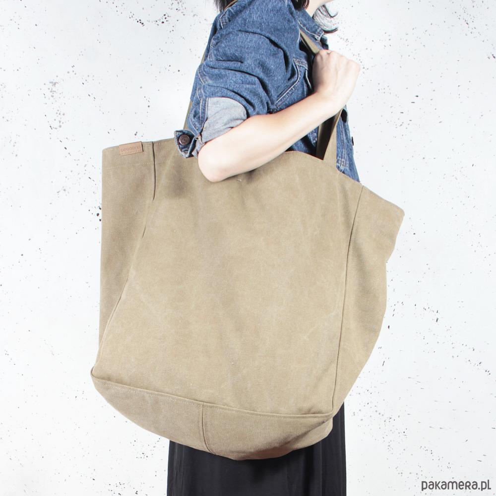 b29f1e60b80d9 Big Lazy bag torba khaki   zieleń na zamek - torby XXL - damskie ...