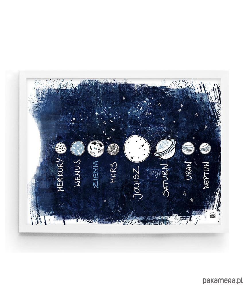 Edukacyjny Plakat Dla Dzieci I Młodzieży Kosmos Pakamerapl