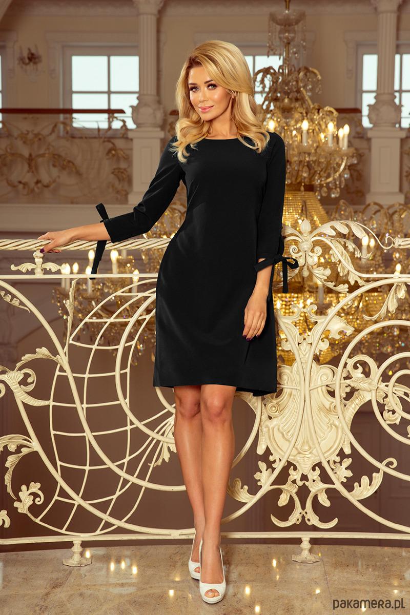 d119bba3b4 195-8 ALICE Sukienka z kokardkami - czarna - sukienki - midi - Pakamera.pl