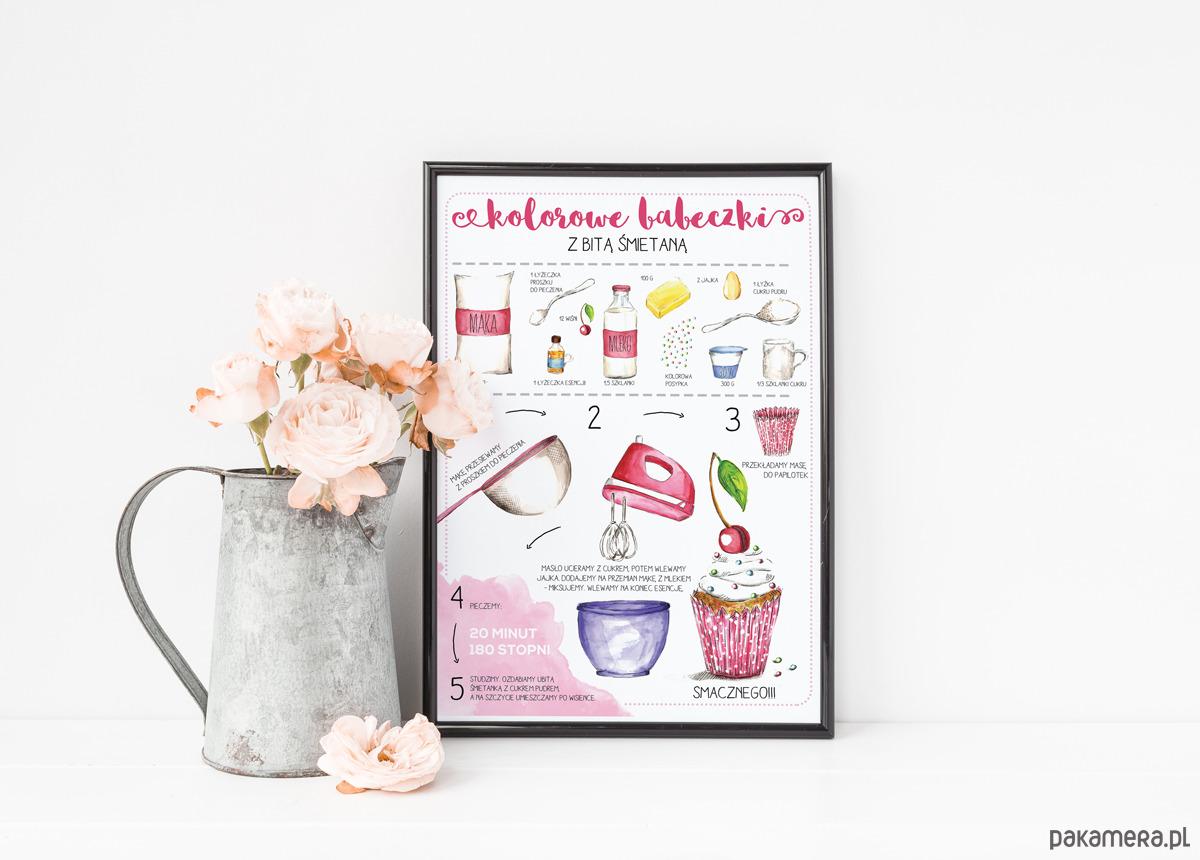Plakat Do Kuchni Ilustrowany Przepis Format A4 Pakamerapl