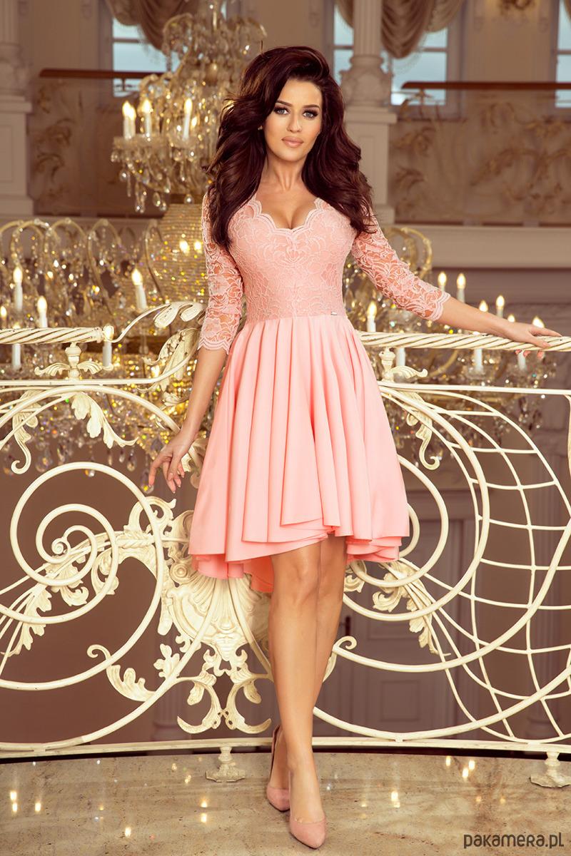 9aa37f1752 210-7 NICOLLE sukienka z dłuższym tyłem - sukienki - midi - Pakamera.pl