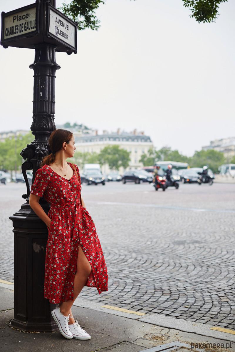 Sukienka CZERWONA W BRATKI