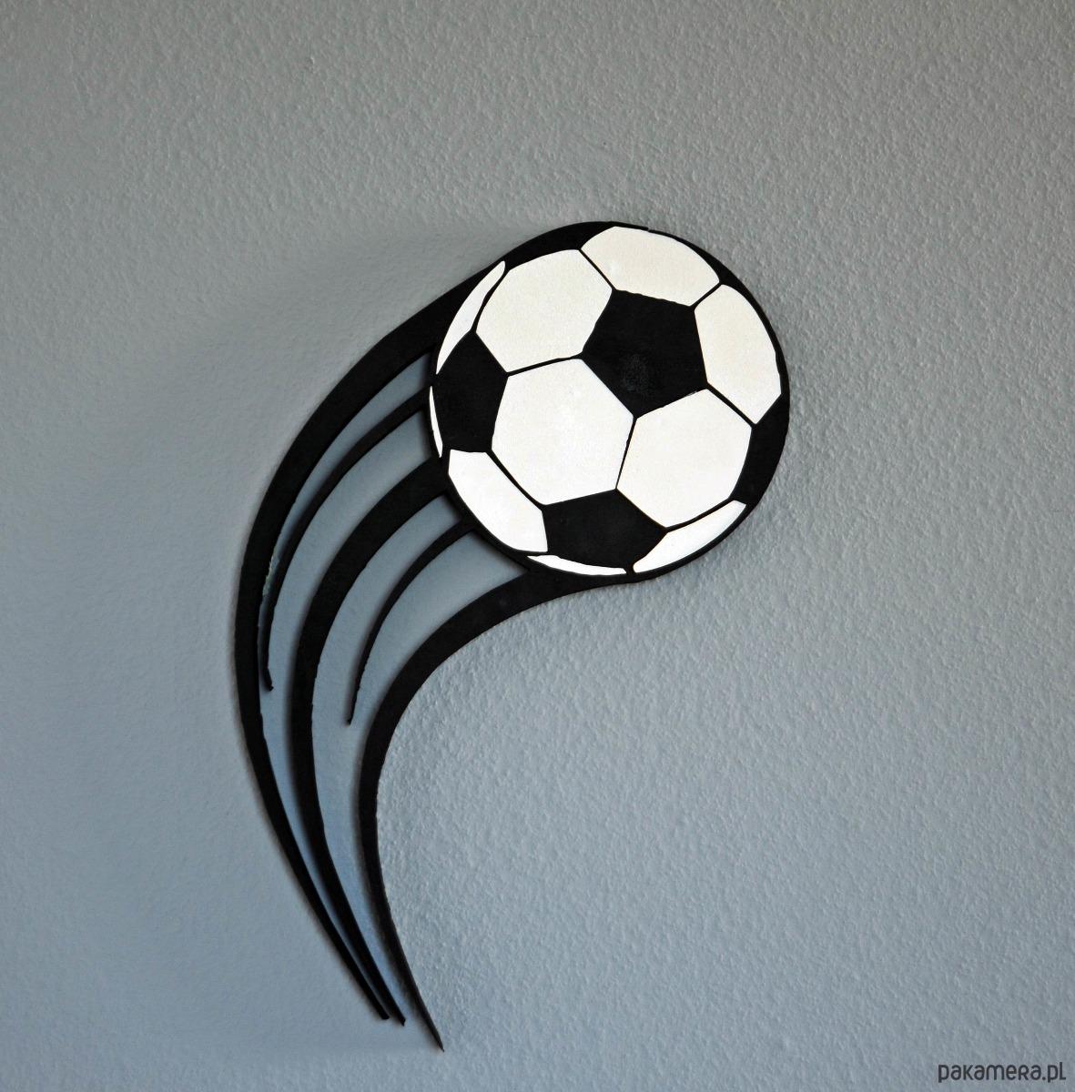 Dekoracja 3d Piłka Nożna W Locie Pokój Dziecka Naklejki ścienne