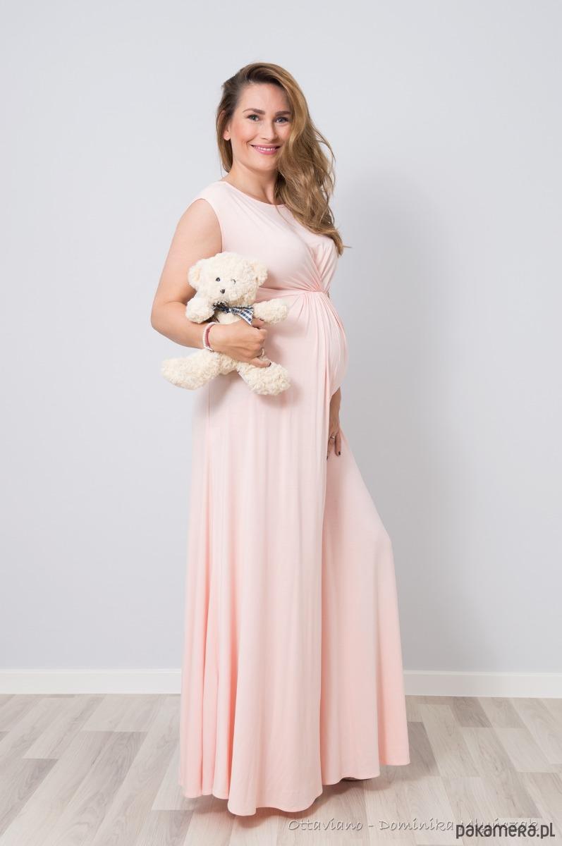 287106b3e40651 Długa suknia BOGINI ciążowa Pudrowy Róż - Moda - sukienki - maxi ...