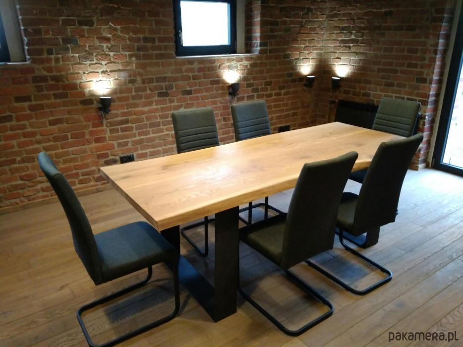Dębowy stół Live Edge, loft, industrial - 2034219