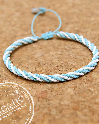 Double spiral - white/light blue