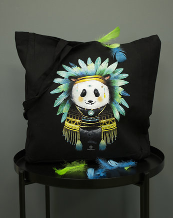 AllbagAllprints, Torba bawełniana Indian Panda