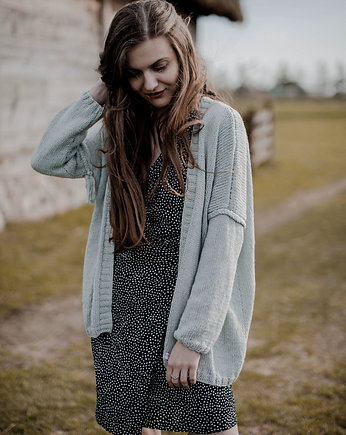 Quiet Gray, Linen Cardigan