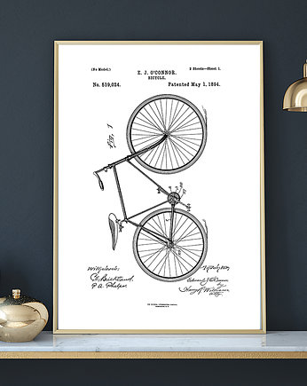 rower, Plakat BICYCLE PATENT