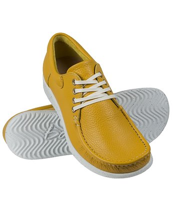 Bara made by Wama Polen, Full-Grain Yellow Moccasin