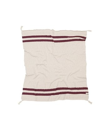 koc, Koc Stripes Natural/Burgundy Lorena Canals