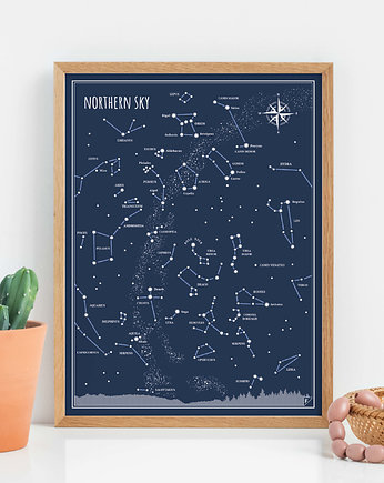 Follygraph, Plakat 30x40 cm - Northern Sky - ENGLISH
