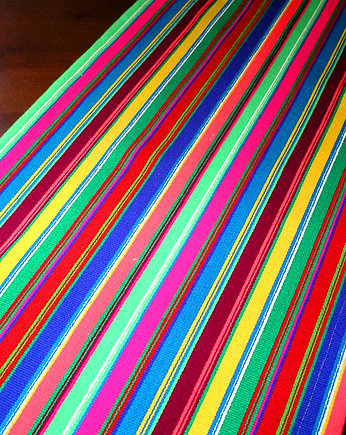 na ludowo, multi STRIPE wool tablecloth (45cm) (handmade)