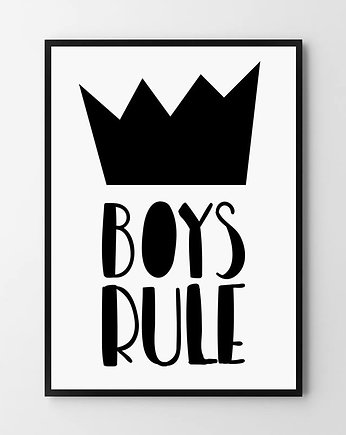 Boys rule - plakat