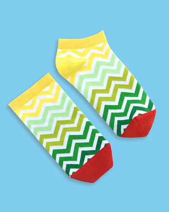 Banana Socks, Green Stripes - stopki BANANA SOCKS