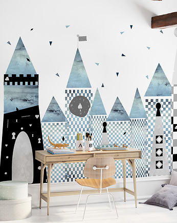 humptydumptyroomdecoration, Mural dziecięcy Blue Wonderland