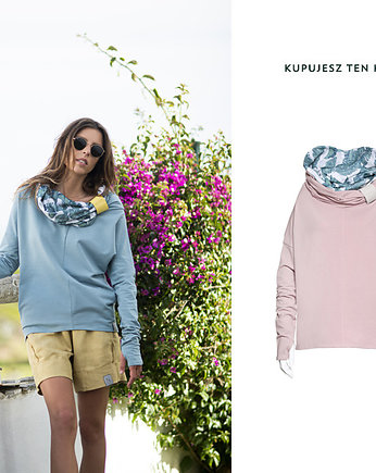 fashion, Nublouse - Bluza z prostym kominem