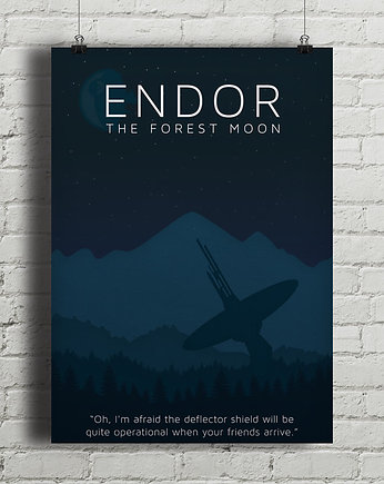 gwiezdne, Star Wars - Endor - plakat
