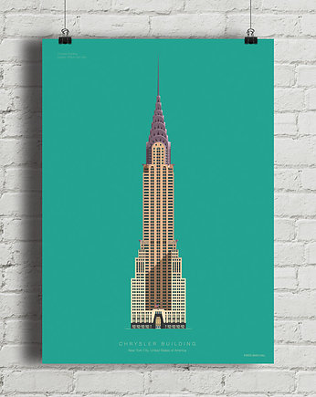 New York, Chrysler Building - plakat giclee art