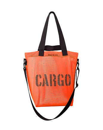 CARGO M-size bag - FLUO ORANGE MESH