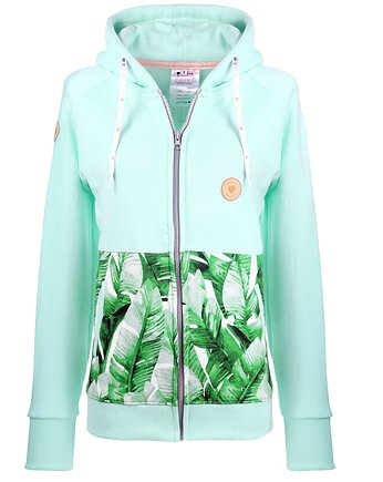 Bluza rozpinana Minty Leaves
